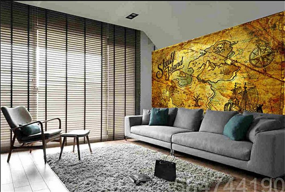 3D wallpaper/custom photo HD mural/European style retro pirate treasure map/TV/sofa/Bedroom/KTV/bar/Hotel/living room custom mural wallpaper european style 3d stereoscopic new york city bedroom living room tv backdrop photo wallpaper home decor