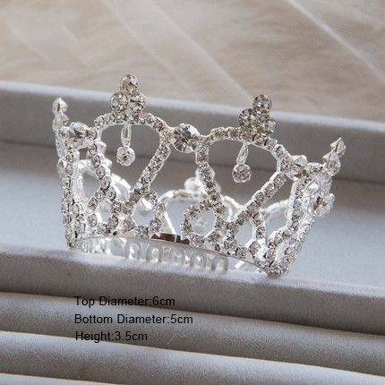 S Small Crowns Rhinestone Heart Tiaras Korean Bride Princess Crown Children Gifts Wedding Accessories A0020 In Hair Jewelry From