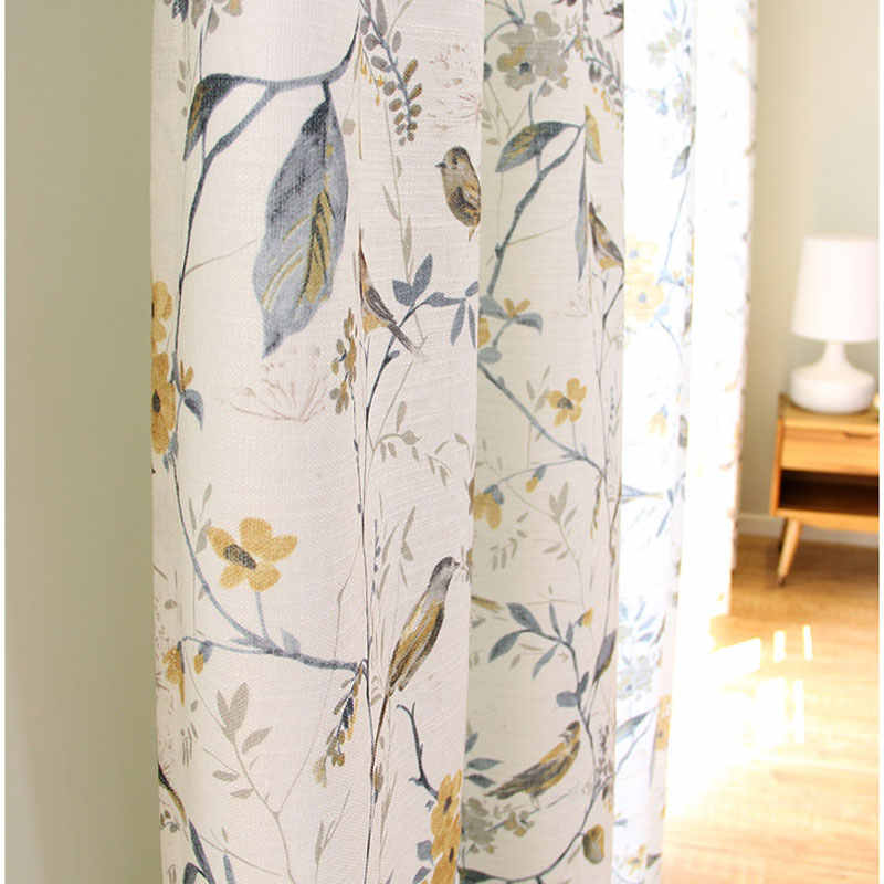 Single Panels Bird Curtains For Living Room Rustic Home Decor American Style Printed Curtains Drapes Curtains Aliexpress
