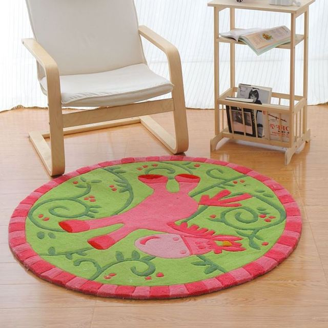 120cm Diameter Cartoon Horse Doormat Thicken Acrylic Children Bedroom Rugs And Carpets Study Room Area Rug