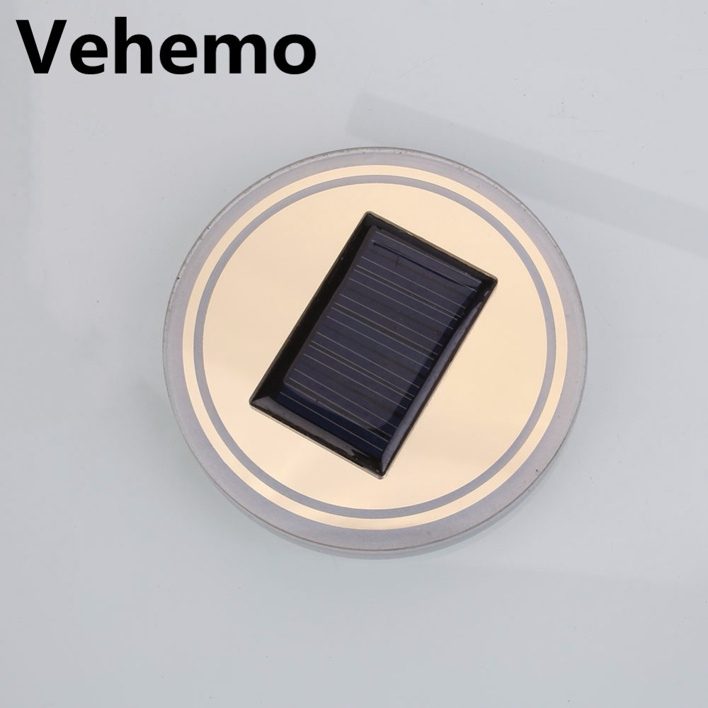 3 Colors Universal Car Anti-Slip Mat Waterproof Solar LED Light Cup Holder Mat Pad Bottle