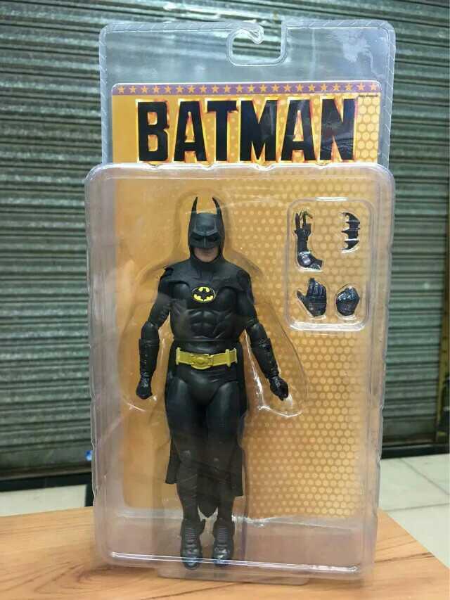 1pcs NECA 1989 Batman Michael Keaton 25th Anniversary PVC Action Figure Toy neca 1989 batman michael keaton 25th anniversary pvc action figure collectible model toy 18cm kt2974