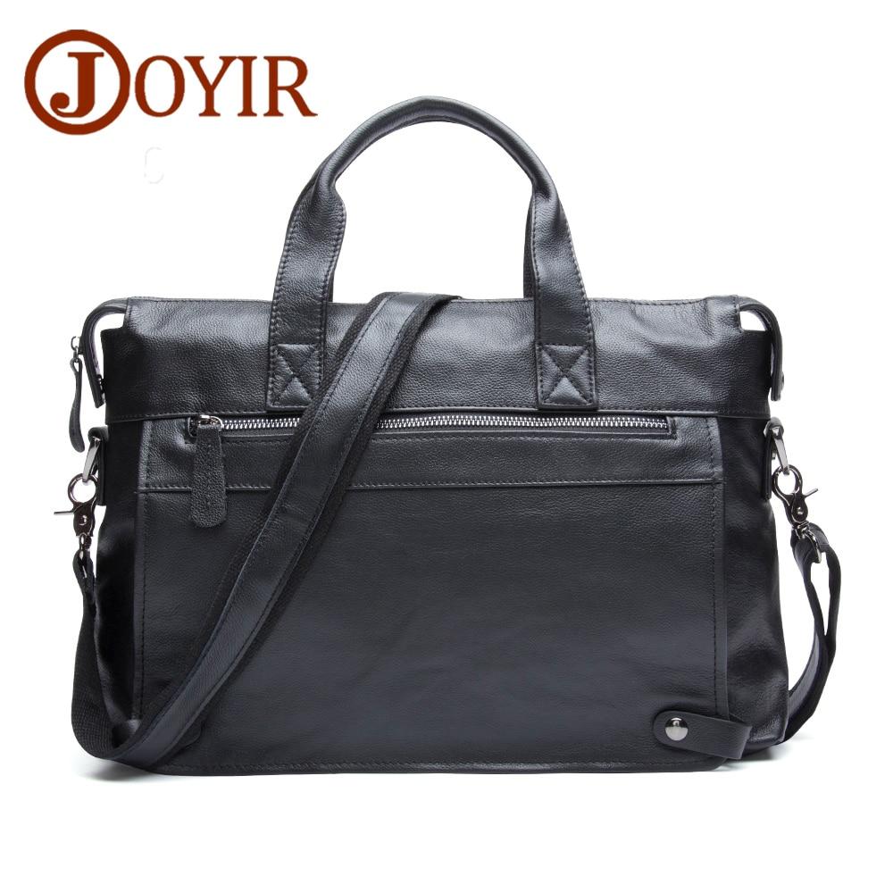 JOYIR Men Business Genuine Leather Men's Briefcase Messenger Crossbody Bag Laptop Handbags Shoulder Bag Tote For Men Male Bag
