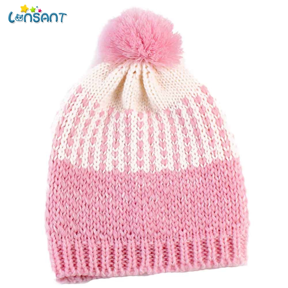 2f0c96612119c LONSANT Baby Hat Newborn Cute Winter Kids Baby Warm Hats Knitted Wool  Knitted Cute Hat Kid Caps newborn baby hat lowest price Details    Specification
