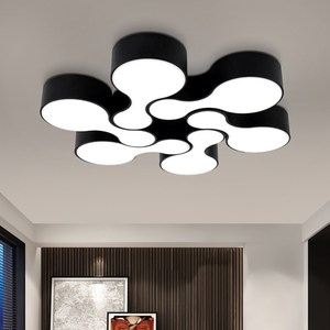 Surface mounted modern led ceiling lights for kitchen Living room bowling lamp Shade Black Color Home Decor lustres de teto