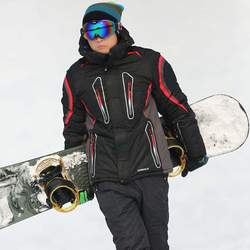 Free Shipping Outdoor Genuine New Men's Ski Jacket  Skiing Clothes Inside Heat Reflective All-weather Breathable Warm Clothes