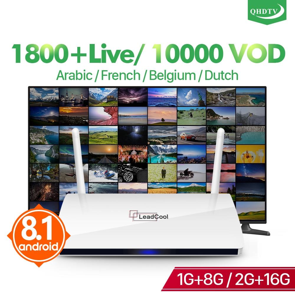 Leadcool IPTV France Android Arabic Box TV Receiver Rk3229 Quad Core Leadcool QHDTV IPTV Subscription box