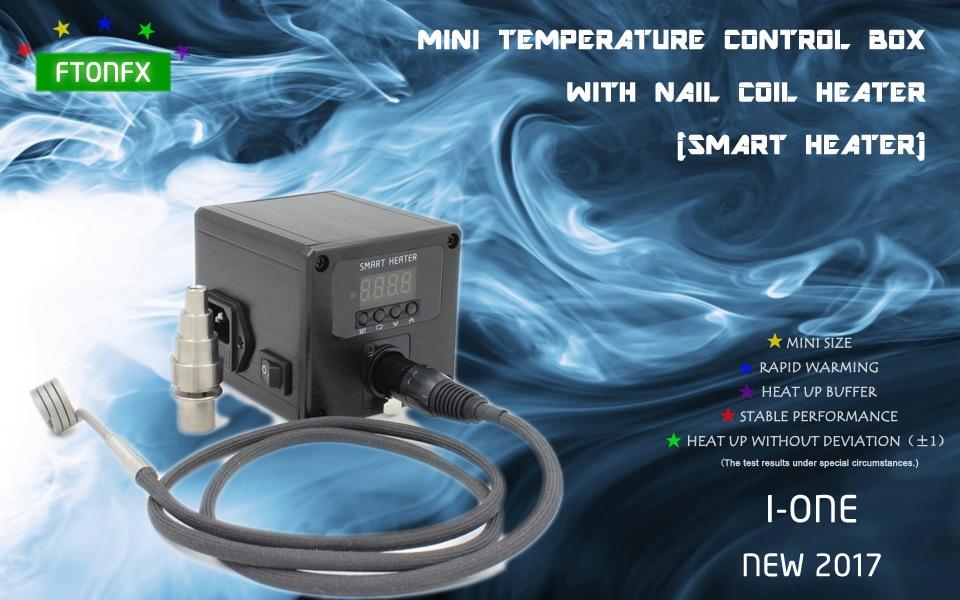 (NEW2017 ,I-ONE ,Titanium Nail) MINI TEMPERATURE CONTROL BOX NAIL COIL HEATER,ELECTRONIC CIGARETTE,  DIRECT MANUFACTURER! new 2016 w2 white mini temperature control box nail coil heater titanium nail electronic cigarette