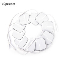 10Pcs 4*4cm Electrode Pads Physiotherapeutic Patches Replacement For Tens Massagers Machine Electron
