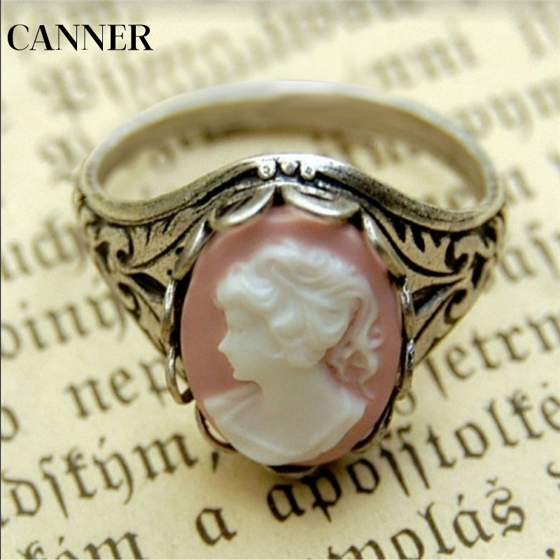 Rings Bright Canner Hot Zinc Alloy Vinatge Virgin Mary Ring For Woman Man Personality Wholesale Factory Price Fashion Jewelry R4