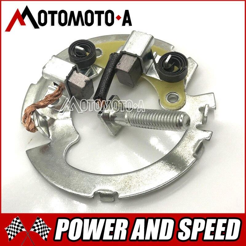 Moto/scooter CA250 DD250 QJ250 QJ250-3 titular escova de carbono do motor de arranque para Honda 250cc DD QJ 250 do motor de CA peças de reposição