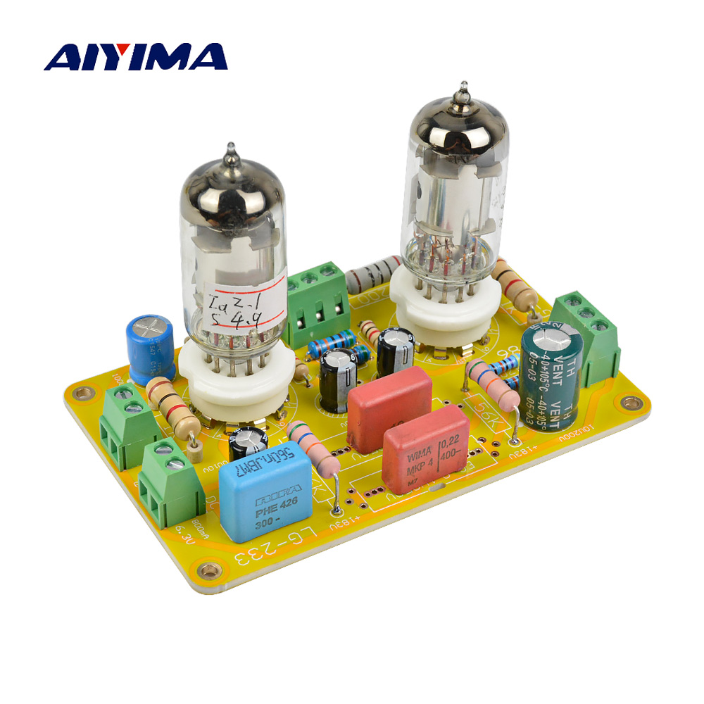 Aiyima Tube Amplifier Audio Board Amplificador 6J8 Two Channel Preamplifier Bile Preamp 6J8 Tube Amp aiyima tube amplifier audio board amplificador 6j8 two channel preamplifier bile preamp 6j8 tube amp