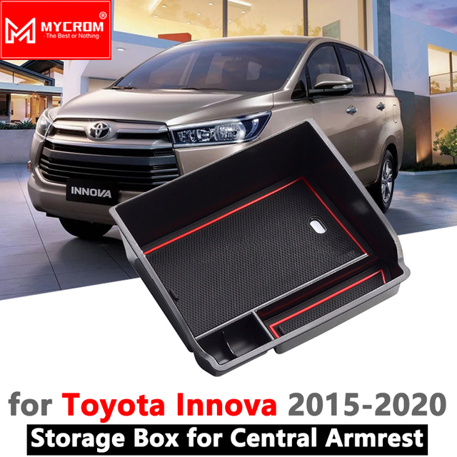 group all new kijang innova grand avanza 1.5 g m/t 2016 armrest box storage car organizer accessories for toyota an140 140 2015 2017 2018 2019 crysta