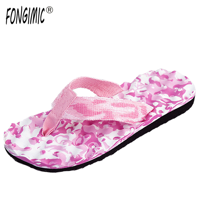 007ed6c6b0e83 Women Flip Flops Summer Casual Simple Slippers High Quality Women Slippers  Beach Non-slip Comfortable Camouflage Flat With Shoes