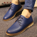 british style fashion lace-up oxford shoes for men comfortable work dress shoes mens shoes leather casual flats zapatos hombre