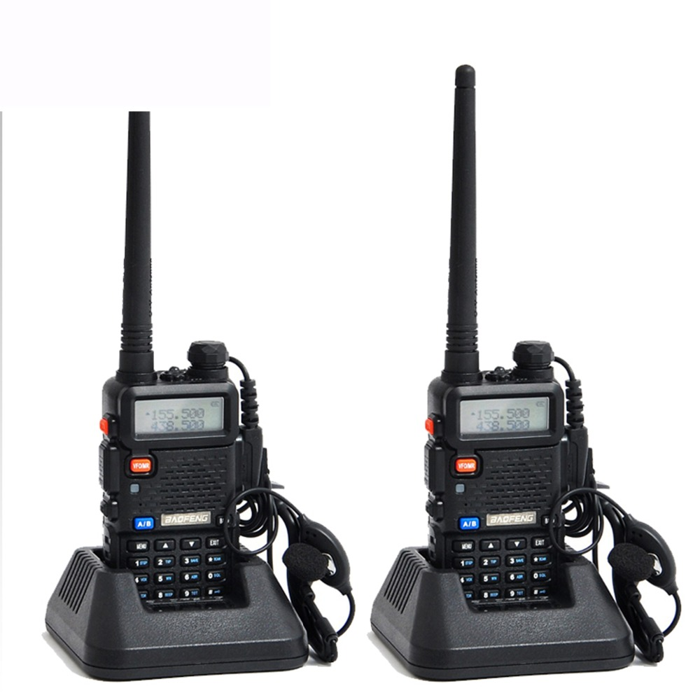 2pcs original baofeng uv 5r portable dual band vhf uhf two way radio 136 174 400 520 ham cb. Black Bedroom Furniture Sets. Home Design Ideas