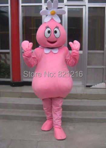 New arrival Adult Lovely Pink Flower Girl Mascot Costumes Halloween Costume Fancy Dress Suit