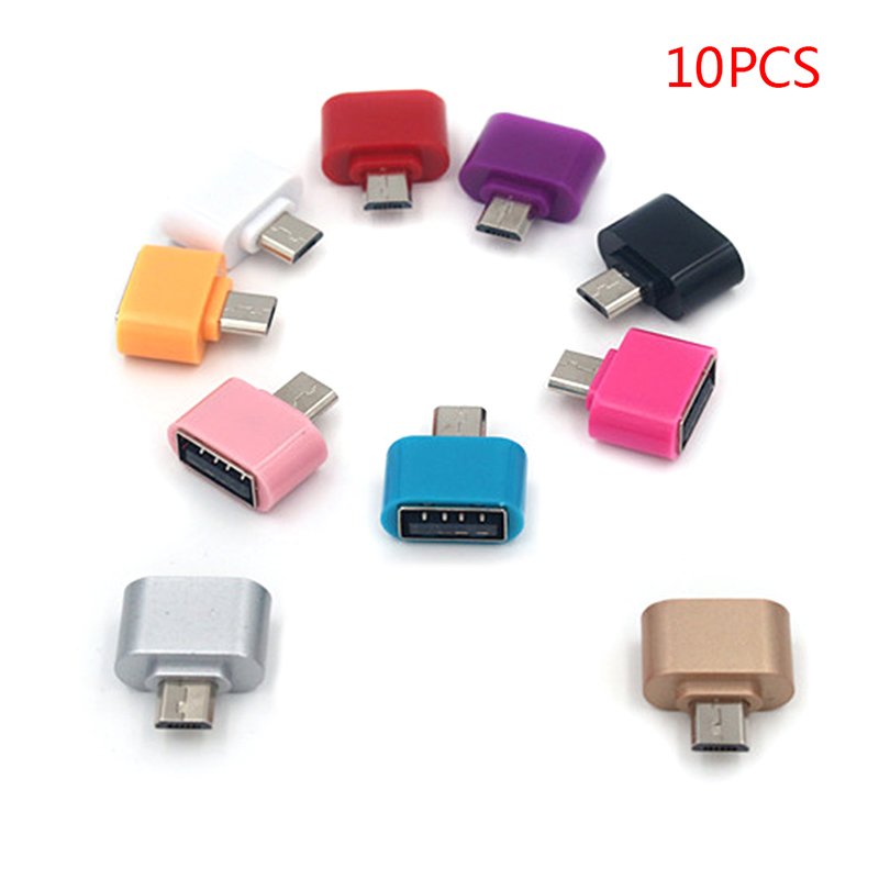 10Pcs/lot OTG Adapter Micro USB to USB 2.0 Converter OTG Cable for Android Samsung Galaxy Tablet Pc to Flash Mouse Keyboard Otg