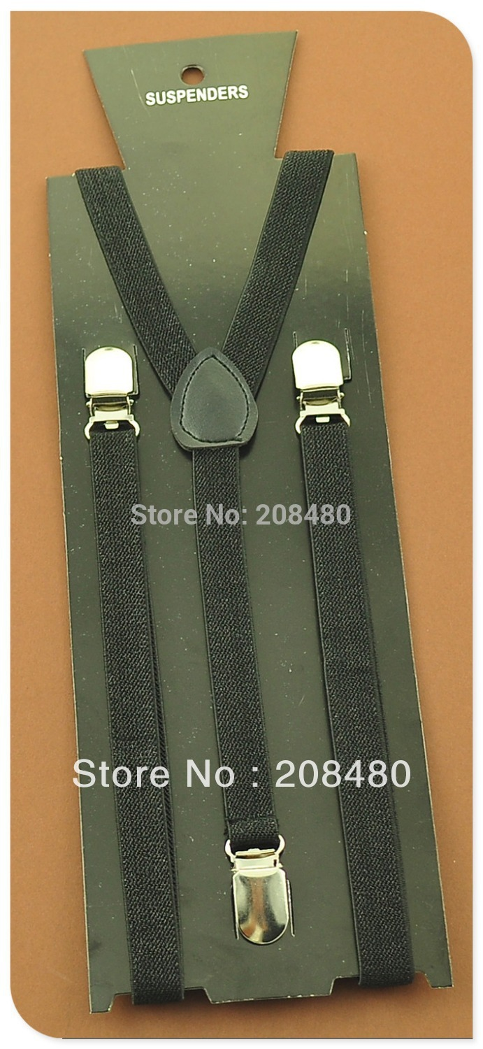 Men Women Suspenders For Trousers Pants Holder Clip-on Elastic Braces 1.5cm Wide Black Glitter Slim Y-back Gallus 2020 New Good