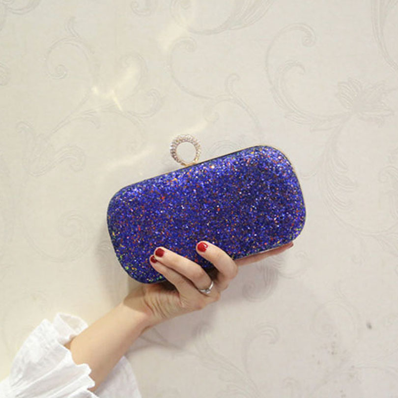 Handbag Glitter Ladies Tote Messenger-Bag Wedding-Day-Clutch Women Super-Fashion