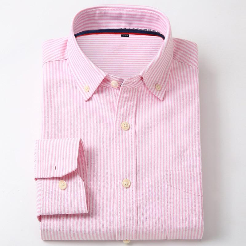 Domple Mens Plaid Check Color Block Slim Fit Lapel Long Sleeve Arc-Shaped Hem Button Down Casual Shirt