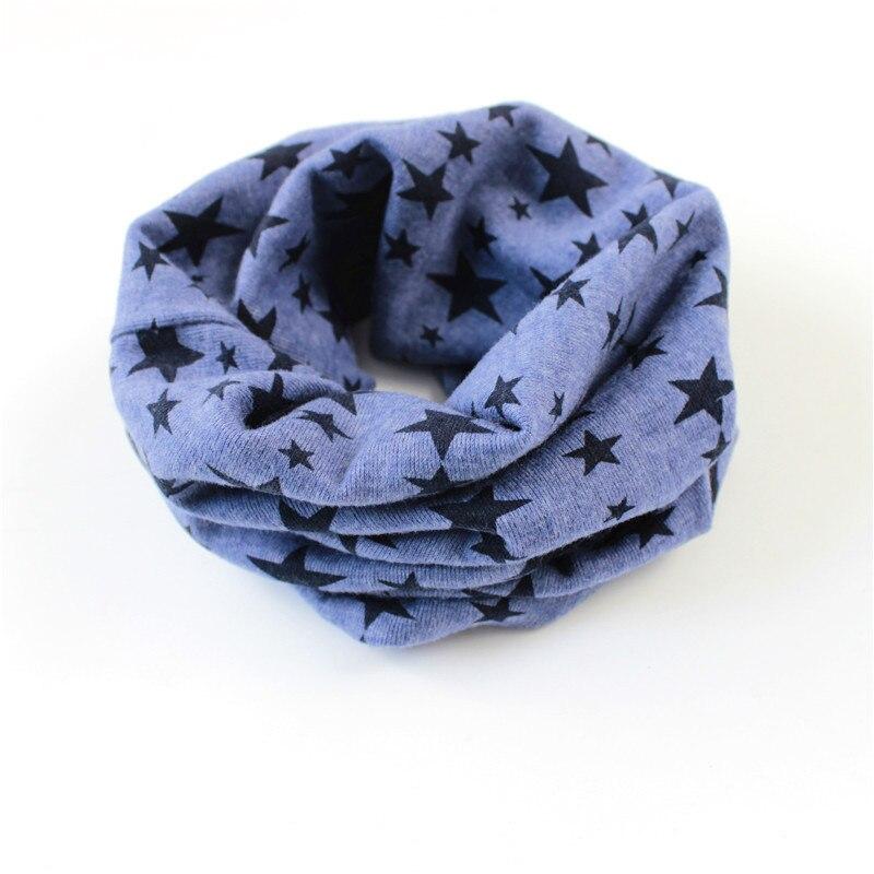 Кольца с принтом звезд, шарфы для подогреватель детей, шарф на осень и зиму для мальчиков и девочек, шейный платок, шапка, маска - Цвет: dark blue
