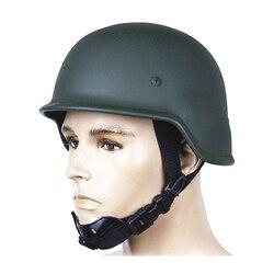 Casque balistique PASGT de casque pare-balles de casque en acier vert d'armée pour des fournitures d'auto-défense de Police militaire d'armée