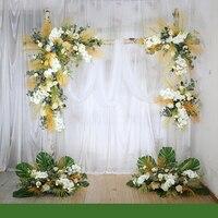 Настроить Свадебные белые арки Цветочная композиция цветочный набор наружное свадебное оформление магазин украшение для окна цветок