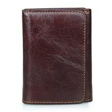 JMD RFID Sperrung Brieftaschen Aus Echtem Leder Geldbörsen Für Herren ID Kartenhalter Fall R-8106Q