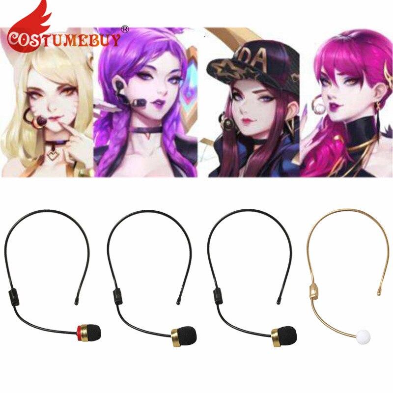 CostumeBuy LOL KDA Ahri Akali Kaisa Evelynn Cosplay Costume Props Earphones Headset Prop Headwear Cosplay Accessories
