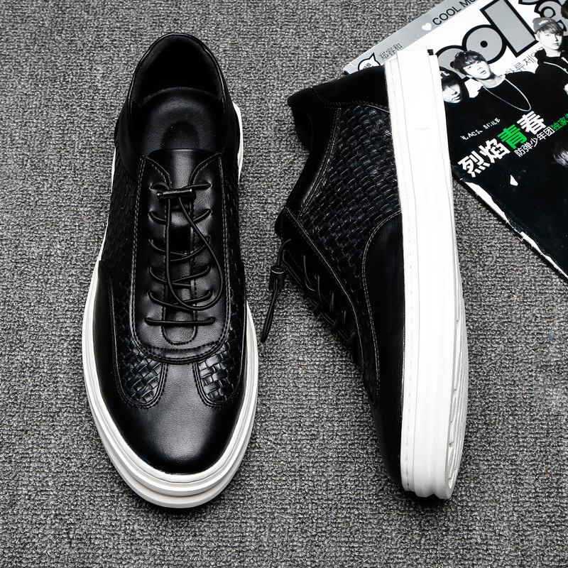 Homens Qualidade Dos Apartamentos black De Lace Sapatos up Couro White Quente Confortáveis Moda 2018 Casuais Venda Divisão Mocassins zqx0RTpw