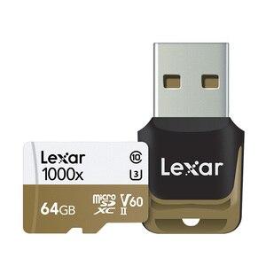 Image 5 - レキサー tarjeta micro sd カード 64 ギガバイト sdxc 150 メガバイト/秒メモリカード U3 クラス 10 車 TF フラッシュアラカルト SD カードリーダー移動プロスポーツカメラ