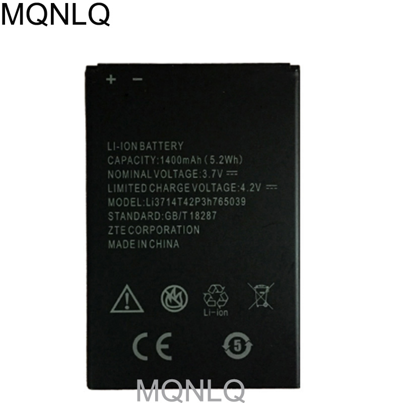 LI3714T42P3H765039 for ZTE Blade A3 AF3 T220 T221 A5 AF5 Battery 1400mAh New Mobile Phone Repalcement MQNLQ image