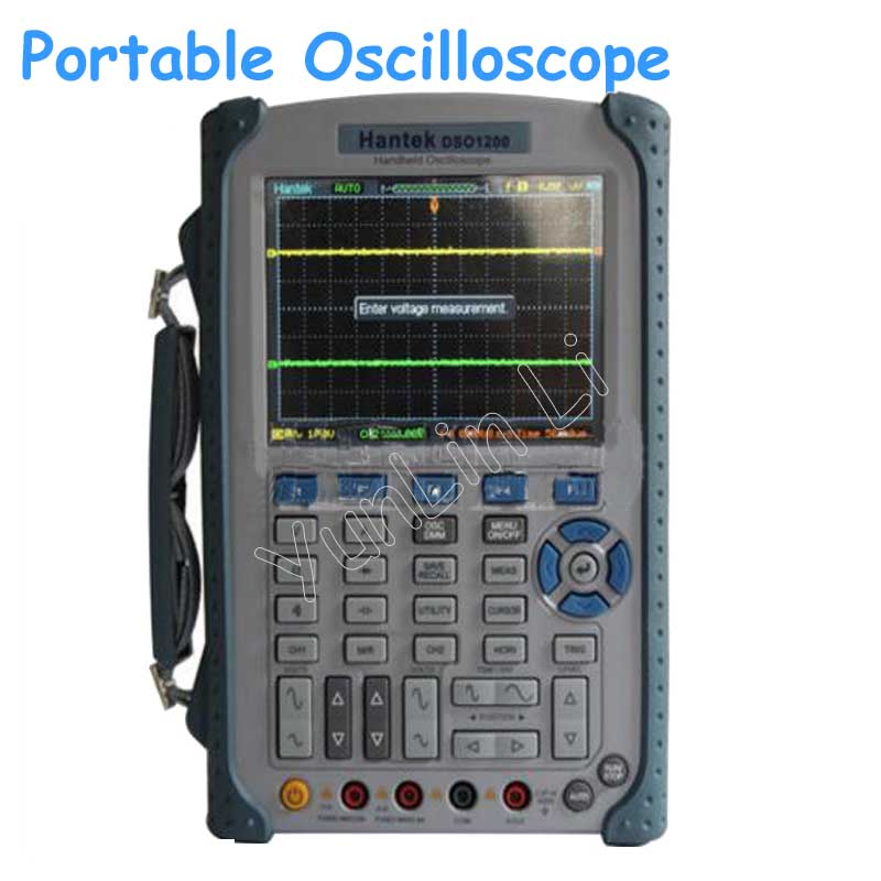 Portable USB Oscilloscope Scope DMM 200MHz 500MSa/s 5.7 2Ch DSO1200