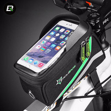 "Rockbros Bike Bag Nylon Waterproof Bicycle Saddle Bag 5.8"" Phone Case Cycling Top Front Tube Bag Cycle Accessories Ciclismo"