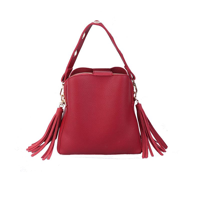 MARFUNY Brand Tassel Shoulder Bags Handbags Women Scrub Daily Bag For Girls Schoolbag Female Crossbody Bags New Bucket Sac 5