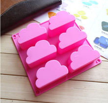 Silicone cake mold 6 cloud pudding mold jelly baking molds handmade soap mould цена и фото