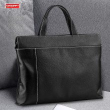 Handbag Briefcase-Shoulder-Bag Crossbody-Bags Messenger Business Black Men's Casual 14-Soft-Cowhide