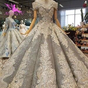Image 3 - Aijingyu rendas vestidos de casamento vestidos china vestidos branco ocidental pérola vestido 2021 2020 longo nupcial robe