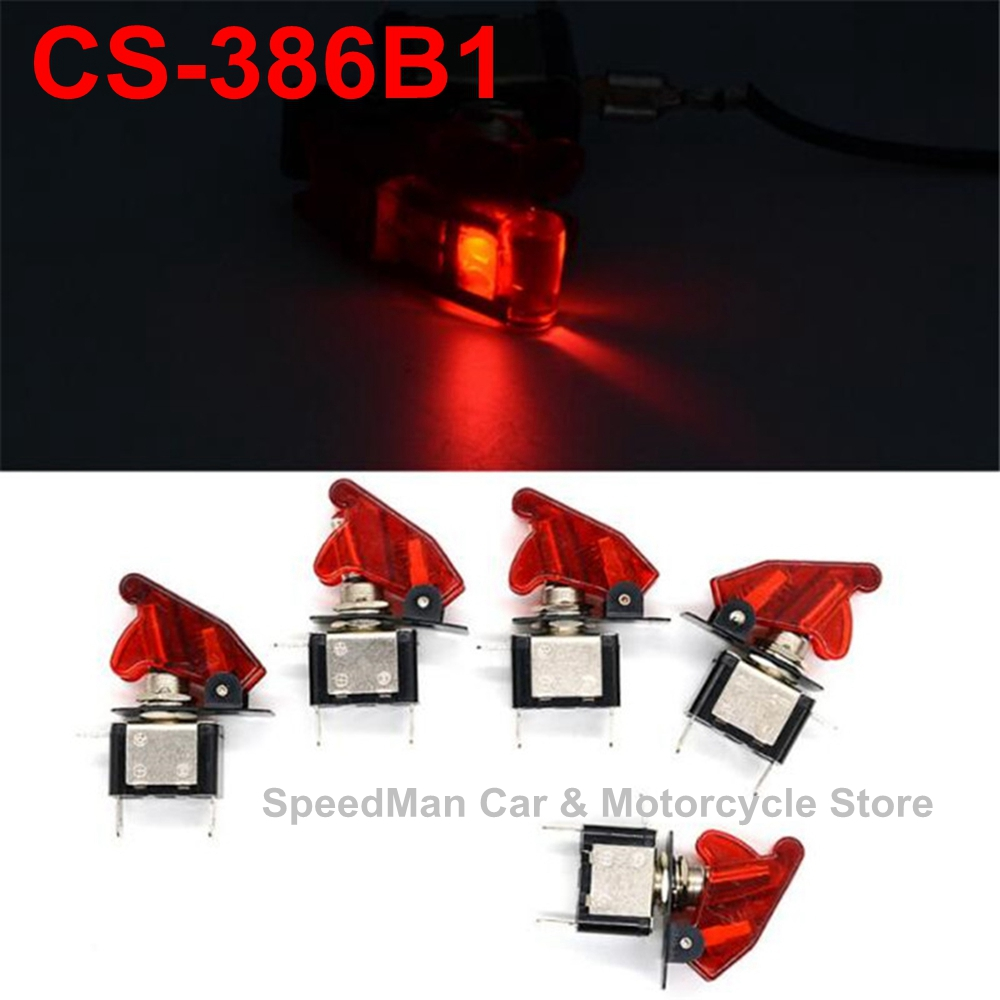 small resolution of wupp cs 386b1 dc 12v 20a red ship led toggle switch headlights fog lights switch car motorcycle boat truck toggle switch 5pcs in motorcycle switches from