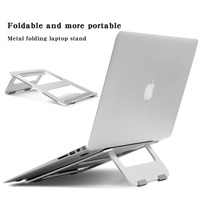 Boona Aluminum Alloy Foldable Laptop Stand Tablet Holder Dock for Mac Book w/Cooling Function Laptops