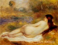 office wall art Nude Reclining on the Grass by Pierre Auguste Renoir decor paintings Hand painted High quality