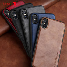 Funda de cuero x-level para iPhone X XS Max estuches de lujo Ultra ligero de silicona suave borde a prueba de golpes funda Coque para iPhone X XS X XR(China)