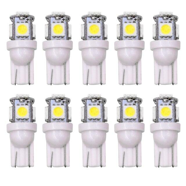 도매 100pcs 프로 모션 T10 5050 5SMD 자동차 신호 LED 빛 194 168 192 W5W 12v 자동 웨지 조명 DC 12V 램프 화이트 레드 블루