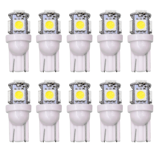 Toptan 100 adet promosyon T10 5050 5SMD araba sinyal LED ışık 194 168 192 W5W 12v oto kama aydınlatma DC 12V lamba beyaz kırmızı mavi