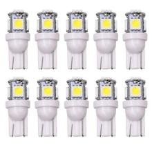 Wholesale 100pcs Promotion T10 5050 5SMD Car signal LED Light 194 168 192 W5W 12v Auto Wedge Lighting DC 12V lamp white red blue