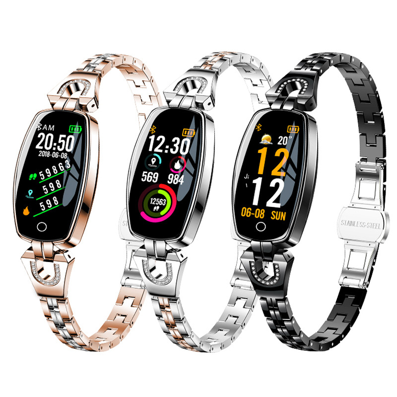 Smart Watch Women Waterproof Heart Rate Monitoring Bluetooth For Android IOS Fitness Bracelet Smartwatch pulsera actividadSmart Watch Women Waterproof Heart Rate Monitoring Bluetooth For Android IOS Fitness Bracelet Smartwatch pulsera actividad