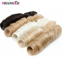 SHANGKE 28 дюймов длинные волнистые волосы на 5 клипсах для наращивания термостойкие синтетические накладные шиньоны натуральные накладные волосы для женщин