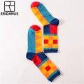 Nueva Tendencia de Moda Tendencia de la Colocación del Color Hit Ocio Iong Ocasionales Calcetines de Algodón Hip Hop Originalidad Divertido Calcetines Originales M331
