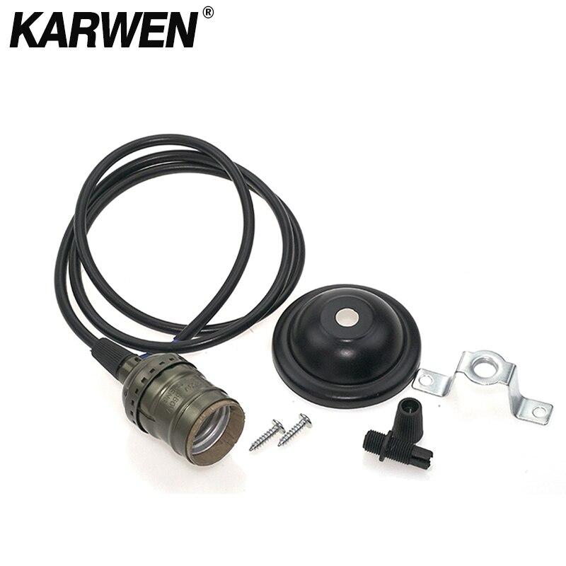 Vintage Retro Edison Lamp Base Holder E27 Pendant Bulb Light Screw Socket Switch 110V 220V Chandelier